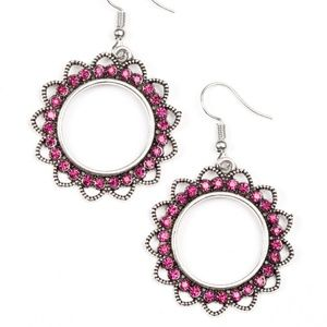 Bring Your Tambourine - Pink Earrings
